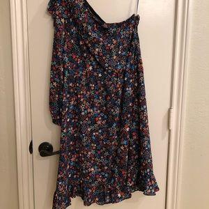 J.Crew one shoulder dress